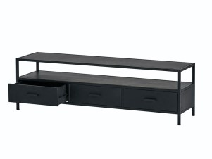 tv-dressoir-150-met-3-lades-black-metal-collection-1